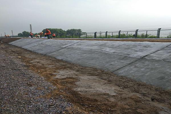 韩吉新型水泥毯施工